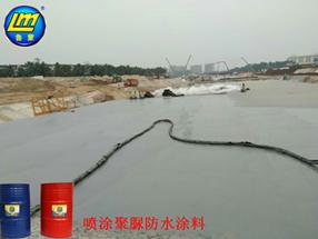 海南博鳌通道工程聚脲外防水